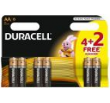 Baterie Duracell Basic AA LR06 4+2 gratis