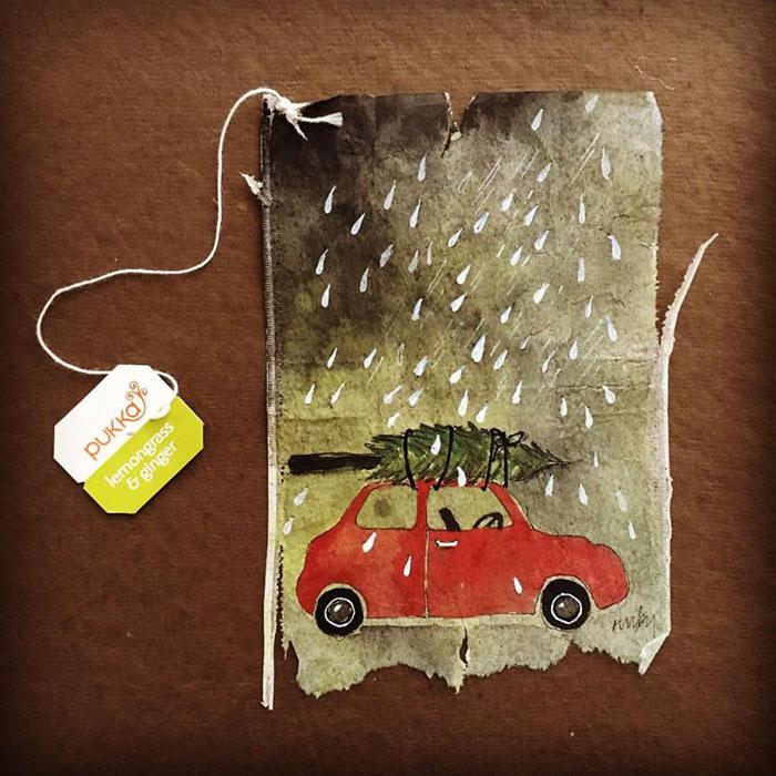 Pictura pe saculeti de ceai, de Ruby Silvious - Poza 13