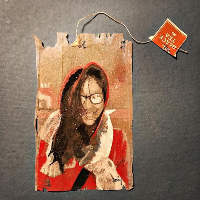 Pictura pe saculeti de ceai, de Ruby Silvious - Poza 8