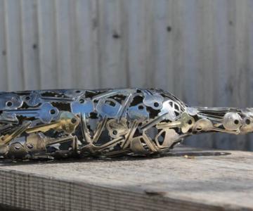 Sculpturi din chei si monede, cu Michael Moekerk