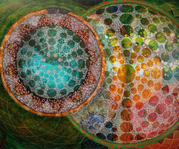 Mandale multicolore, pictate de Amy Cheng