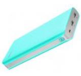 Acumulator extern Romoss Sense 6 LED, 20000 mAh, 2x USB (Albastru)
