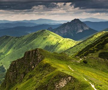 Jakub Polomski priveste cerul de pe munti