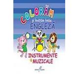 Coloram si invatam limba engleza. Instrumente muzicale Vol. 6