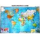 Harta politica a lumii (Scara 1 : 22 000 000)