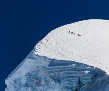 Maretia Alpilor pe timp de iarna
