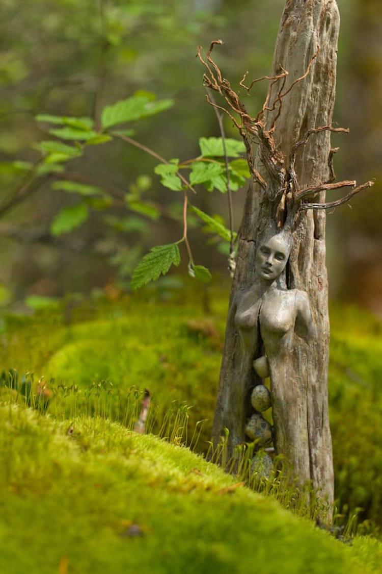 Spiritele naturii: Sculpturi himerice gingase - Poza 8