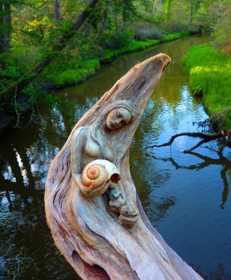 Spiritele naturii: Sculpturi himerice gingase - Poza 6