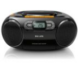 Micro Sistem Philips AZ328, Caseta, CD/MP3 Player (Negru)