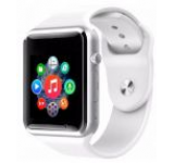 Smartwatch cu Telefon iUni A100i 1294-1, BT, LCD Capacitive touchscreen 1.54 Inch, Camera (Alb)