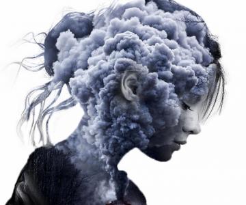 O lume fascinanta: Portrete superbe cu dubla expunere