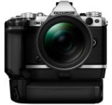 Aparat Foto Mirrorless Olympus E-M5II 1240 Kit + HLD-8 Suport baterie + baterie BLN-1, 16 MP, Filmare Full HD (Argintiu)