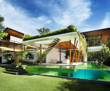 Casa salciilor din Singapore, de Guz Architects