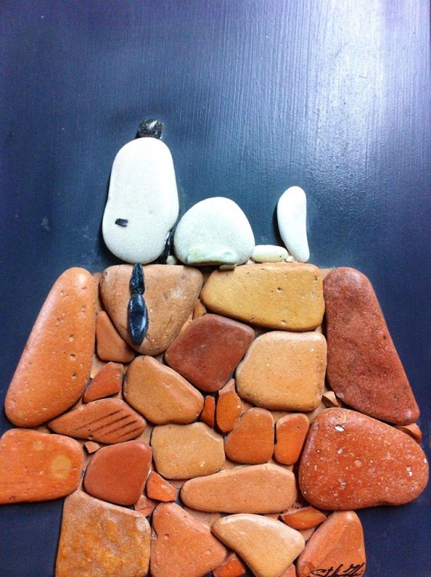 Creatii artistice cu pietre - Poza 15