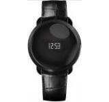 Smartwatch MyKronoz ZeCircle Pemium Flat, OLED, Bluetooth, Bratara piele, Rezistent la apa si praf (Negru)