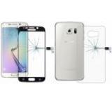 Folie protectie Sticla Temperata OEM pentru Samsung Galaxy S6 Edge Plus, fata/spate (Negru)