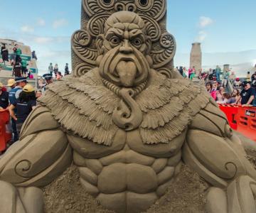 Concursul de sculpturi in nisip din Noua Zeelanda