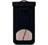 Husa Waterproof Devia DVWPBBK pentru telefoane pana la 5.5inch, cu adaptor audio 3.5mm, armband si agatatoare (Negru)