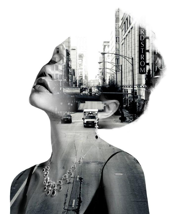 O lume fascinanta: Portrete superbe cu dubla expunere - Poza 11