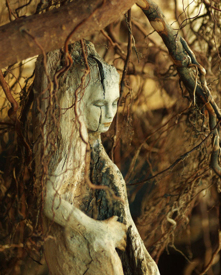 Spiritele naturii: Sculpturi himerice gingase - Poza 9