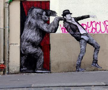 Ilustratii satirice pe strazile Parisului