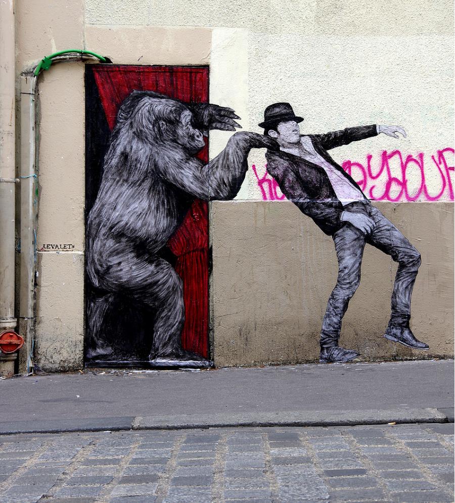 Ilustratii satirice pe strazile Parisului - Poza 1