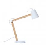 Lampa de birou Play White Matt / Nature