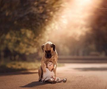 Copilasi si prieteni uriasi, in poze superbe