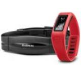 Bratara electronica pentru activitati sportive Garmin Vivofit + Monitor pentru masurarea ritmului cardiac (Rosu)