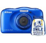 Aparat Foto Digital NIKON Coolpix W100, 13.2MP, Zoom Optic 3x, Wi-Fi (Albastru) + Rucsac