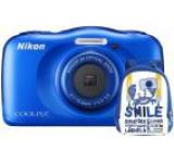 Aparat Foto Digital NIKON Coolpix W100, 13.2MP, Zoom Optic 3x, Wi-Fi (Albastru) + Rucsac