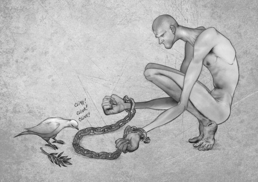 Problemele societatii actuale, in ilustratii rascolitor de sincere - Poza 19