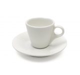 Set 4 Cesti cu farfurioare White Basics Conical Demi Alb, Portelan, 80 ml
