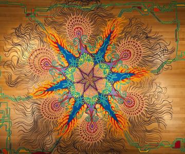 Picturi din nisip, realizate spontan de Joe Mangrum