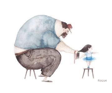 Relatia dintre tata si fiica, in ilustratii emotionante