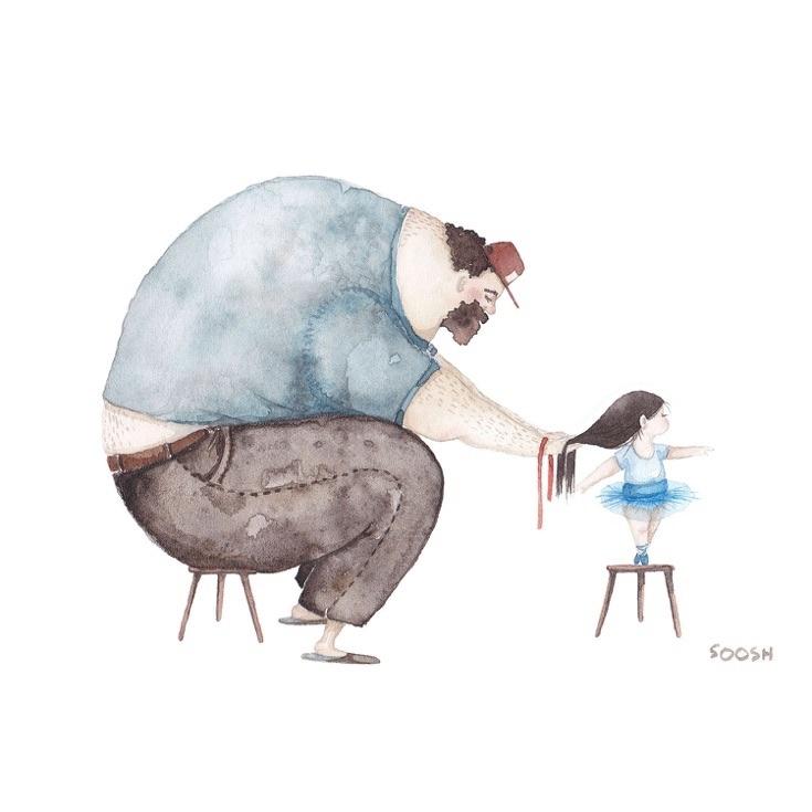 Relatia dintre tata si fiica, in ilustratii emotionante - Poza 1