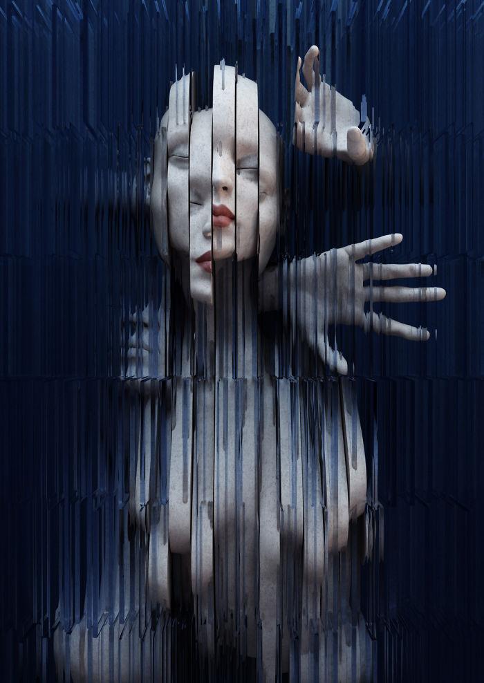 Natura duala a omului, in sculpturi 3D - Poza 4