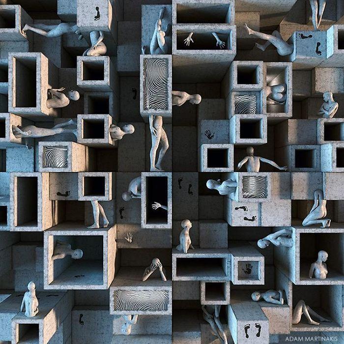Natura duala a omului, in sculpturi 3D - Poza 11