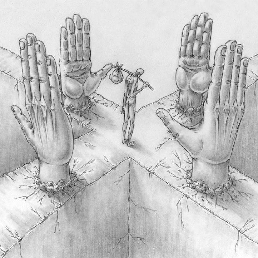 Problemele societatii actuale, in ilustratii rascolitor de sincere - Poza 23