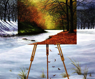 Intre vis si viata: Picturi suprarealiste de Neil Simone