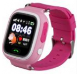 Smartwatch iUni Kid100 9962-1, 1.22inch, GPS, Bratara silicon, dedicat pentru copii (Roz)