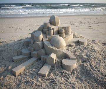 Geometrie sculptata in nisip de Calvin Seibert
