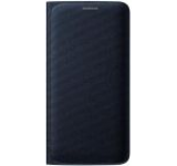 Husa Flip Wallet Samsung pentru Galaxy S6 Edge G925, Textil (Neagra)