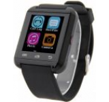 Smartwatch iUni U8i, Capacitive touchscreen, Bluetooth, Bratara silicon (Negru)