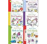 Usborne Wipe Clean Books Pack Set - Learn To Write 6 Books Collection Set With Marker Pen