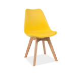 Scaun din lemn Kris Yellow