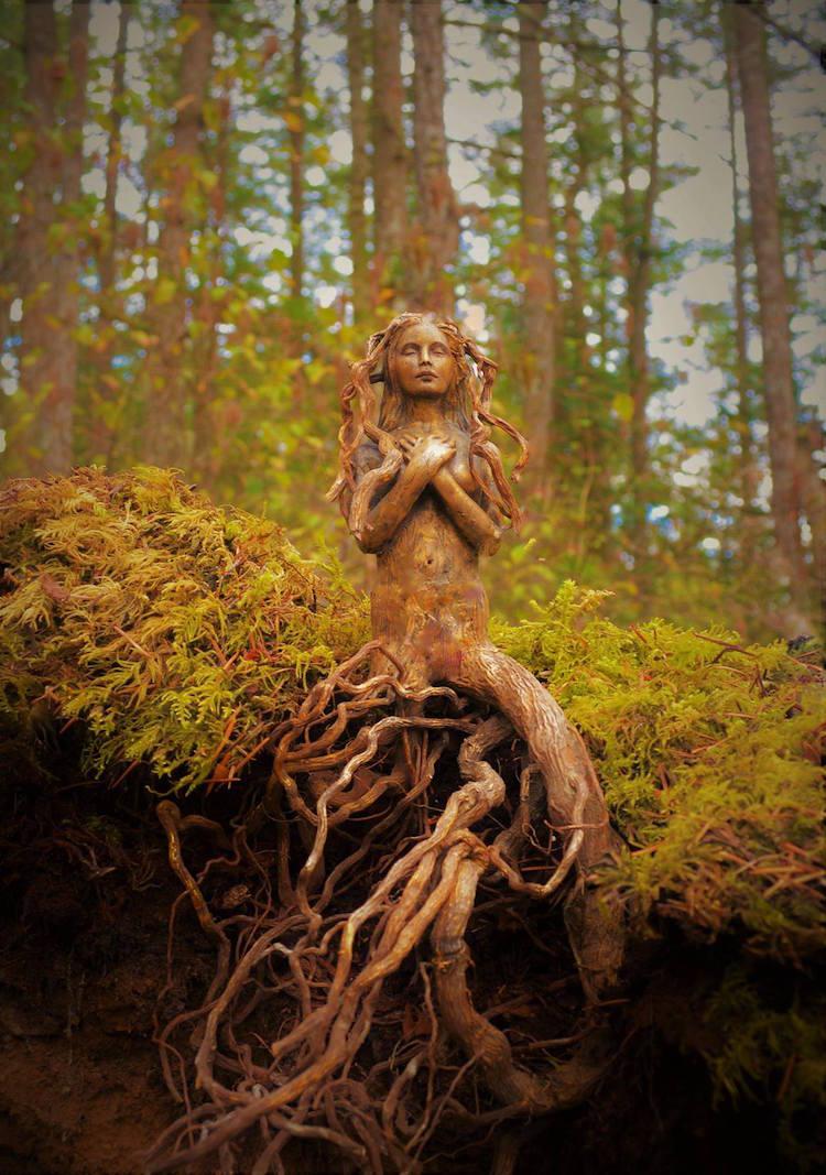Spiritele naturii: Sculpturi himerice gingase - Poza 1