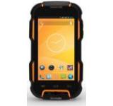 Telefon Mobil Tecmobile Titan 600 EVO, Procesor Quad-Core 1.3GHz, TFT IPS Capacitive touchscreen 4inch, 1GB RAM, 8GB Flash, 8MP, Wi-Fi, 3G, Android, Dual Sim, Rezistent la apa si praf IP67 (Negru/Galben)