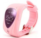 Smartwatch iUni U11, OLED 0.96inch, 2G, GPS, Bratara silicon, dedicat pentru copii (Roz)