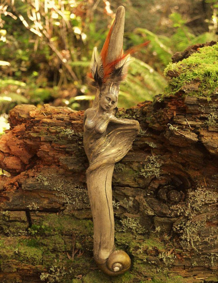 Spiritele naturii: Sculpturi himerice gingase - Poza 10